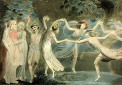 A painting of fairies dancing